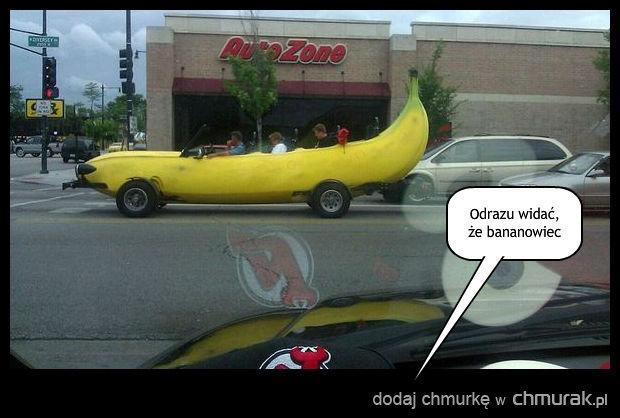 Odrazu widać że bananowiec