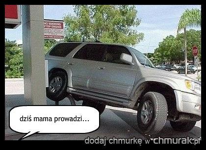 dziś mama prowadzi