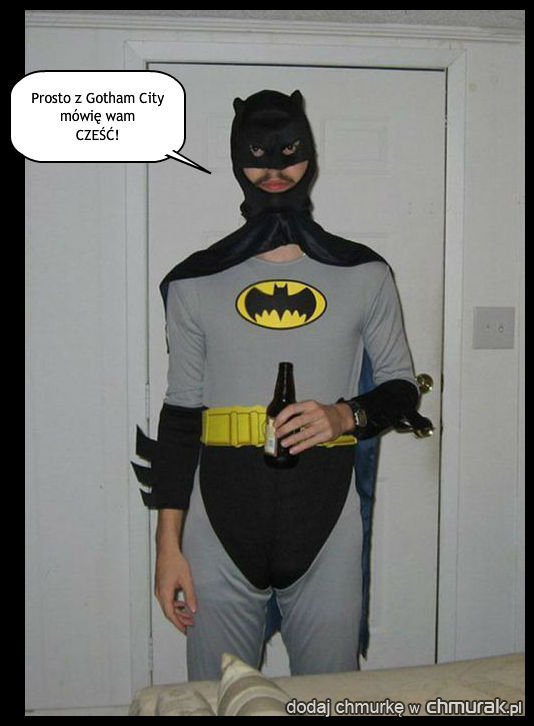 A oto Bruce Wayne czyli Batman po przejściu ciężkiej grypy
