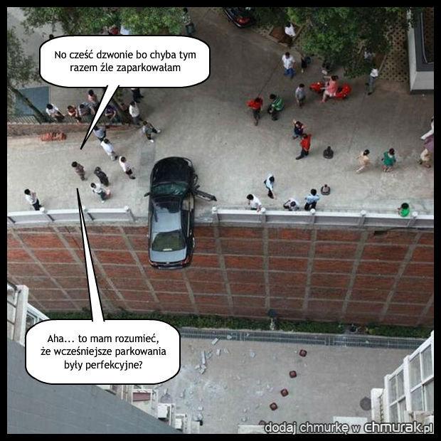 Z cyklu: żonka parkuje
