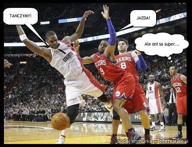 taniec w stylu NBA