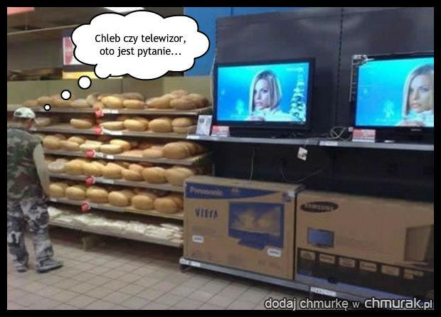 Stary bierz chleb, telewizja kłamie