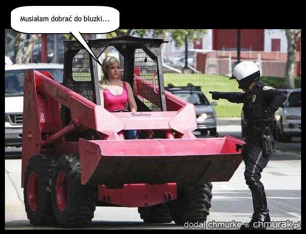 Ma pani uprawnienia na ten ~transport?!