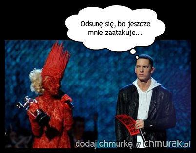 Przerażony Eminem