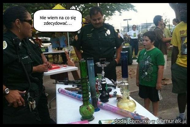 Cięzki wybór dla policjanta