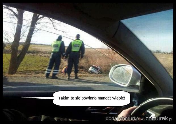 Policja daje zly przykład