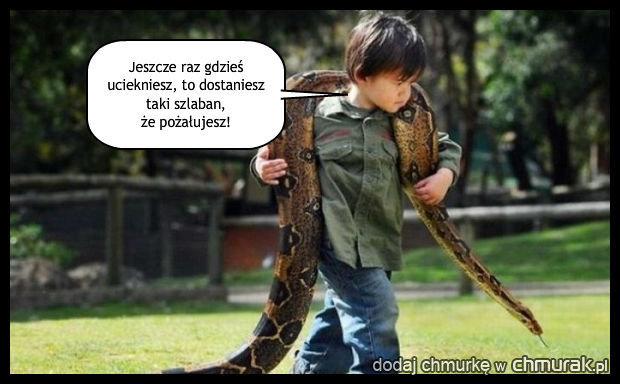 Nie posłuszny wężyk