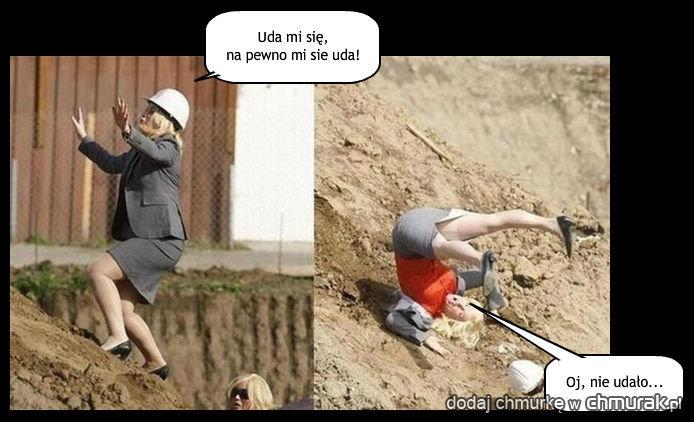 Kobieta na budowie.