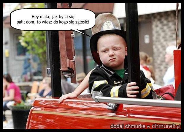 Podryw strażaka