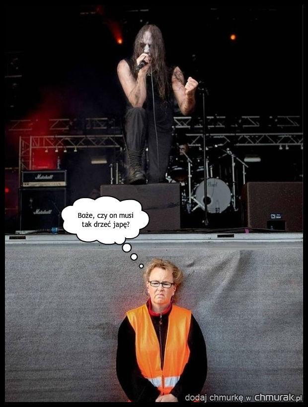 Nie jest fanką metalu...