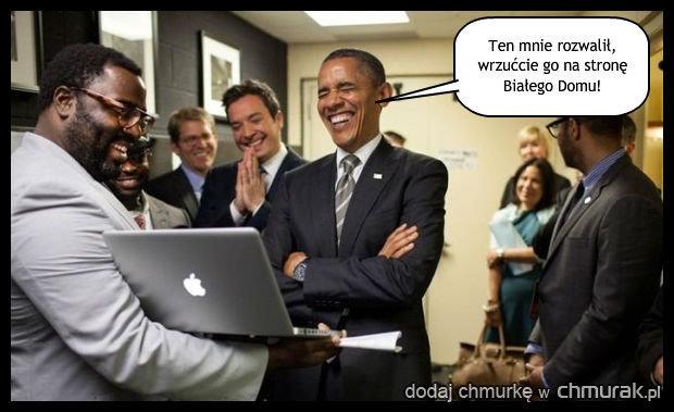 Obama przegląda chmuraki.