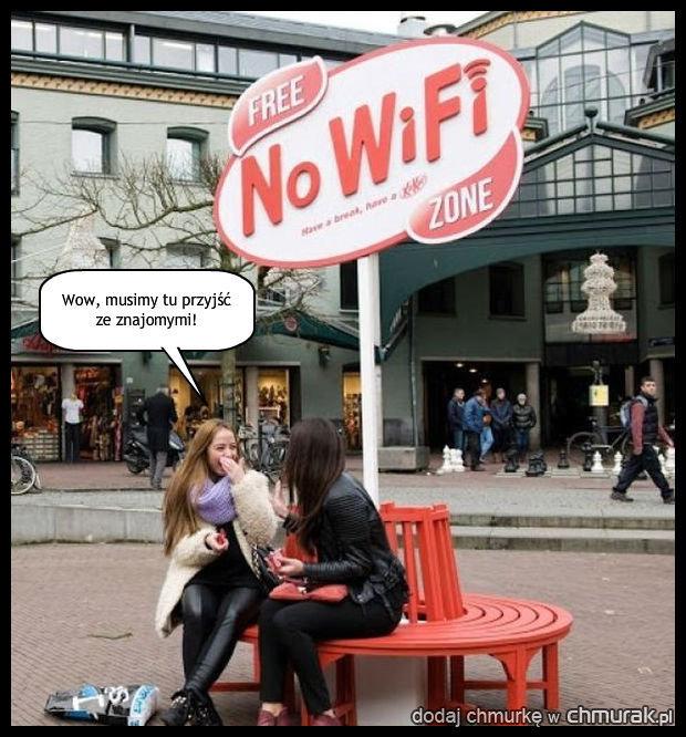 Rzadko spotykane miejsce bez internetu.