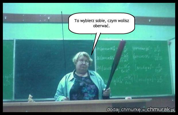 Jaka miła nauczycielka.