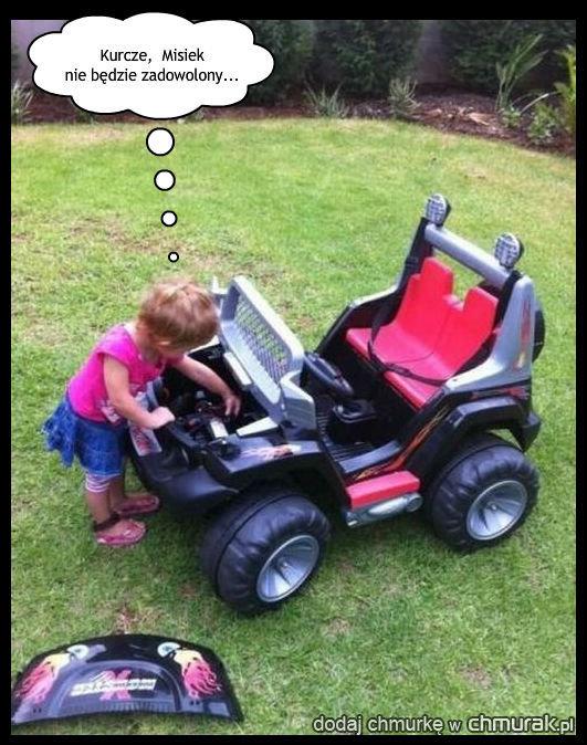 Zapsuła auto chłopaka