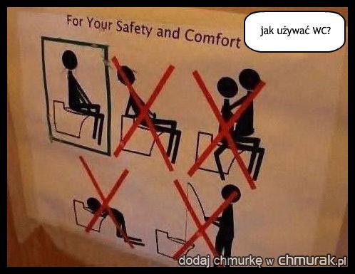 jak używać WC?
