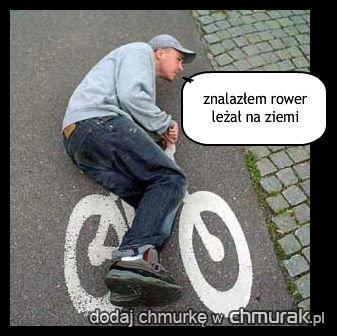 znalazłem rower leżał na ziemi