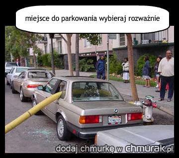 miejsce do parkowania wybieraj rozważnie