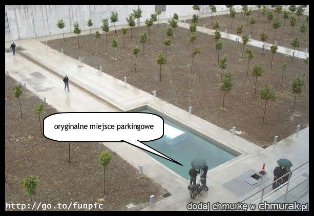 oryginalne miejsce parkingowe