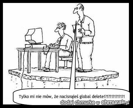 Tylko mi nie mów, że nacisnąłeś global delete