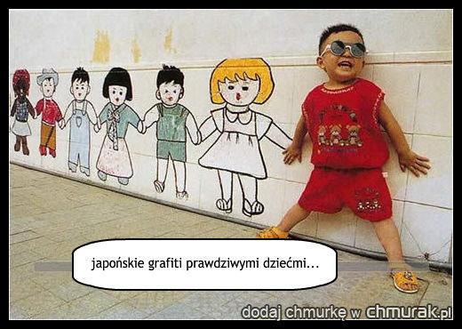 japońskie grafiti prawdziwymi dziećmi...