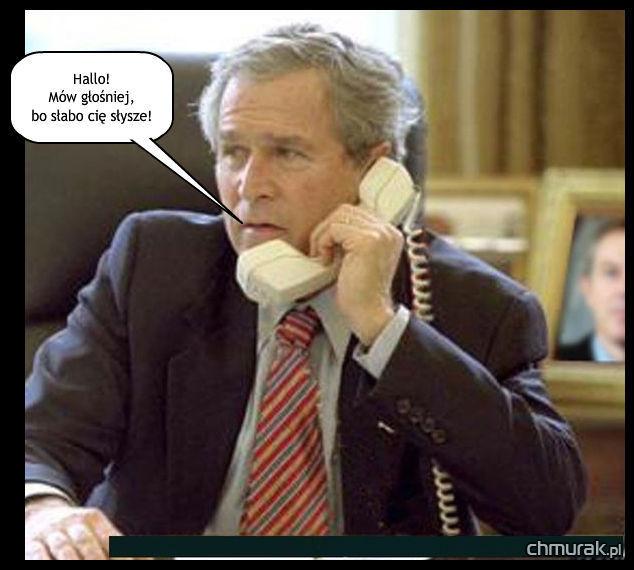 bush gada przez telefon